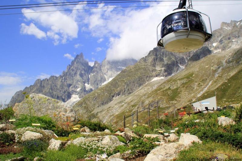 Skyway Monte Bianco Alpine Botanic Garden Courmayeur Italy