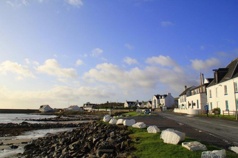 Bruichladdich Islay whisky distillery seafront Scotland