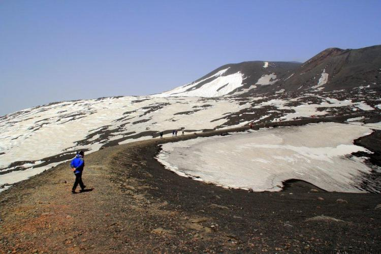 Climbing Mt Etna Sicily