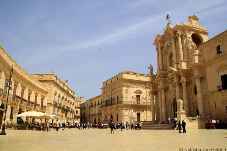 Piazza Duomo Ortygia Syracuse Sicily