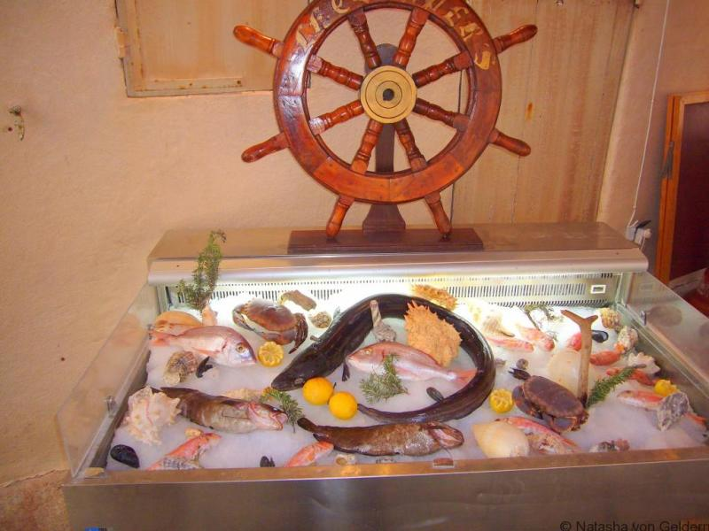 Seafood in Propriano, Corsica