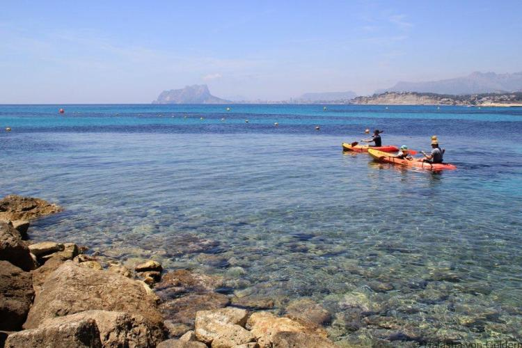 Kayaking at Portet, Costa Blanca
