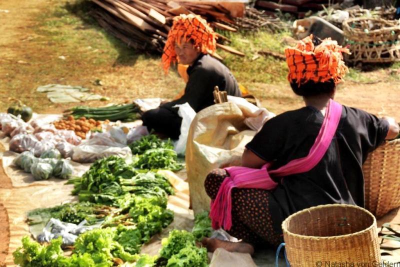 Indein market sellers Myanmar