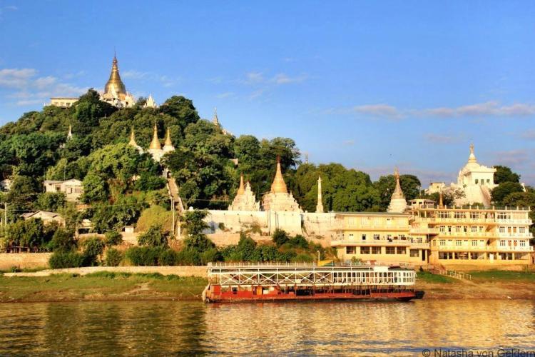 Sagaing Mandalay to Bagan boat Myanmar