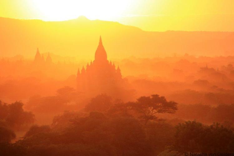Bagan sunset in Myanmar