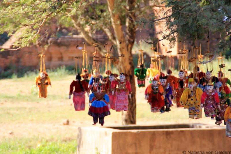 Myanmar puppets in Bagan