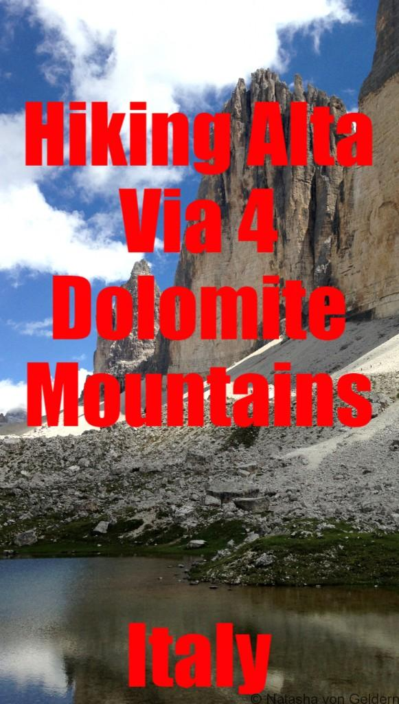 Alta Via 4 Hiking in the Dolomite Mountains Italy