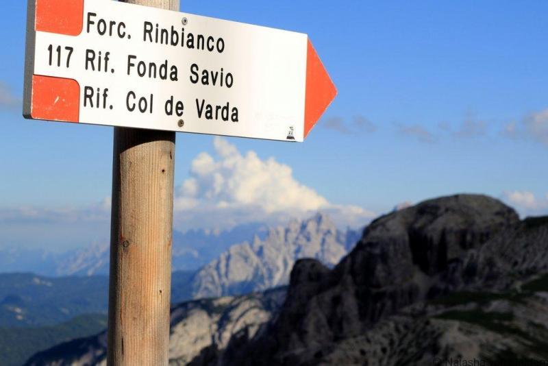 Žygiai Dolomitų Italijos kelio ženklinimu