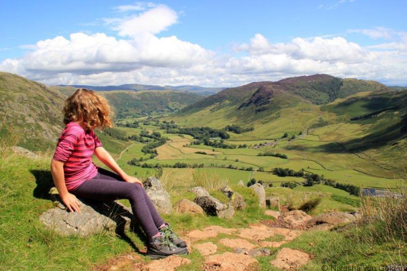 Climbing Bowfell in the Lake District web