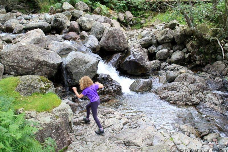 Gorge scrambling in the Lake District