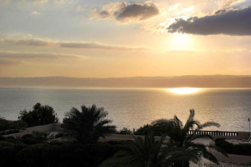 Dead Sea Sunset Jordan