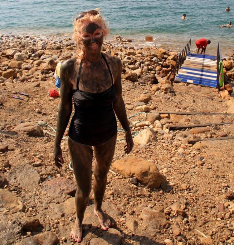 Dead Sea mud bath Jordan