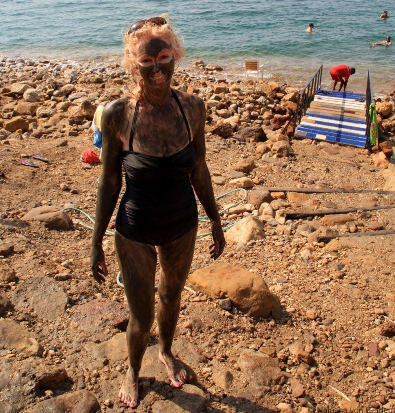 Dead Sea mud bath Jordan