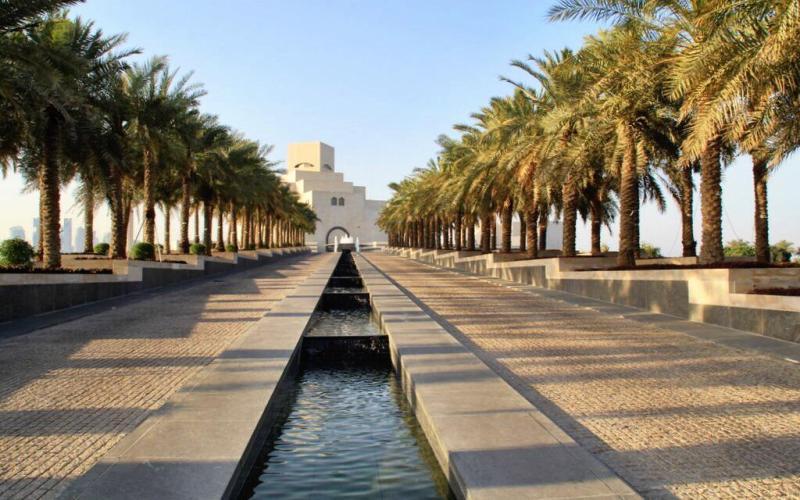 Museum of Islamic Art Doha Qatar entrance