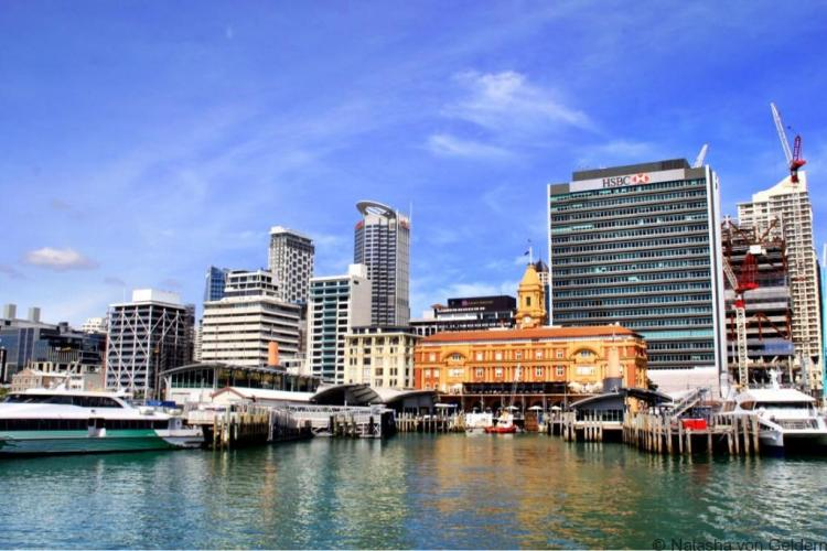 Departing Auckland for Rangitoto Island day trip New Zealand
