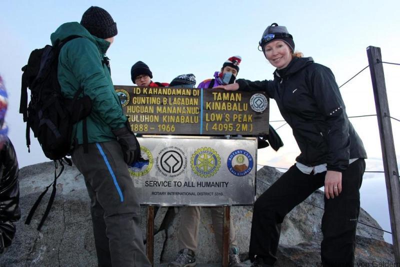 Summit post Mt Kinabalu Malaysian Borneo