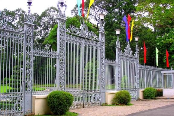 Gates of the Museum of War Remnants Ho Chi Minh City Vietnam
