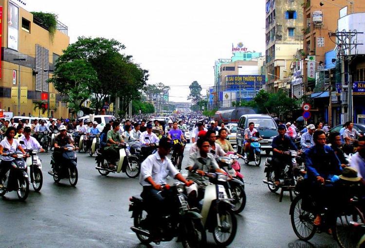 Ho Chi Minh City traffic Vietnam