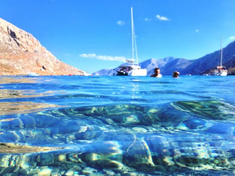 Crystal clear Aegean Sea on Kalymnos Greece