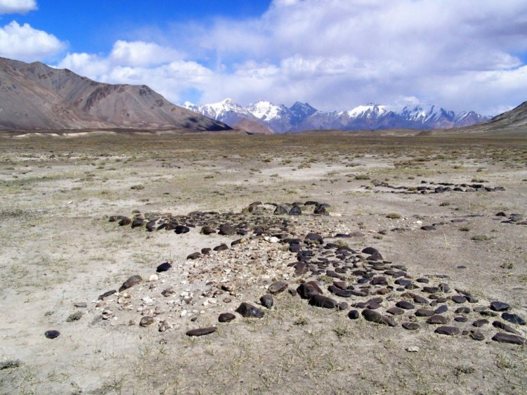 Geoglyphs at Shurali in the GBAO region of Tajikistan Pamirs
