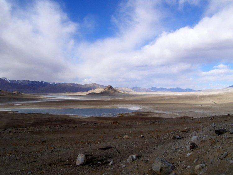 The Pamir plateau driving the Pamir Highway M41 Tajikistan GBAO region