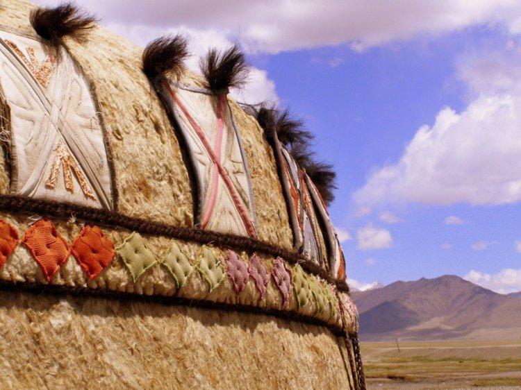 Yurt decoration Kyrgyz nomads in the GBAO region of Tajikistan