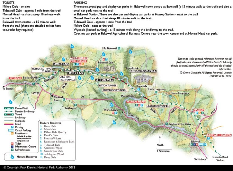 Monsal Trail Map