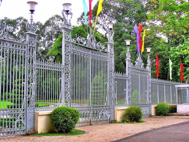 Museum of War Remnants gates Ho Chi Minh City Vietnam
