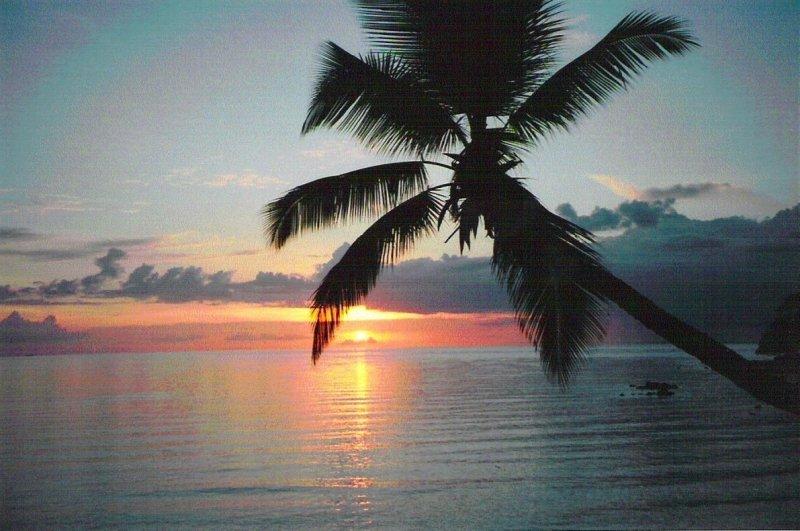 Tropical island sunset on Koh Pha Ngan Thailand