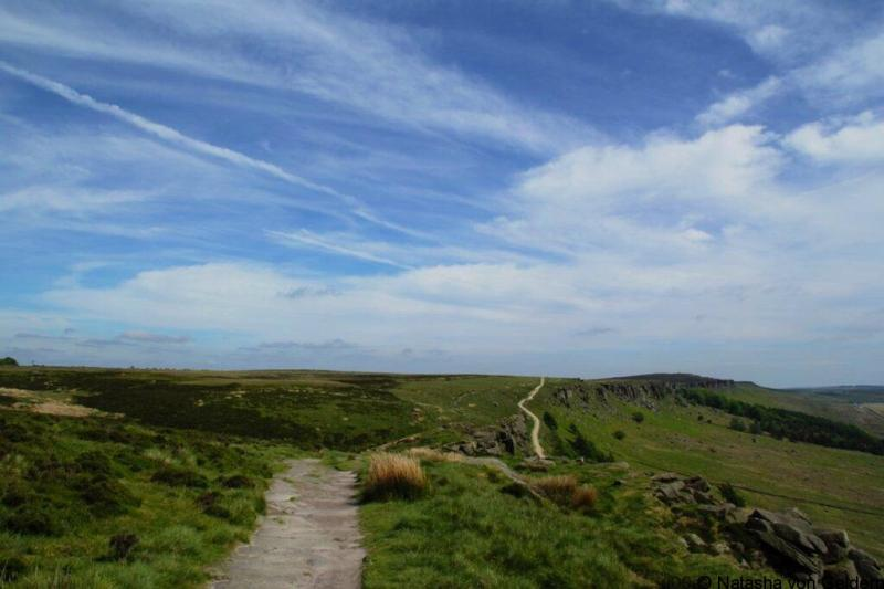 Walking trails in the Peak District Derbyshire England