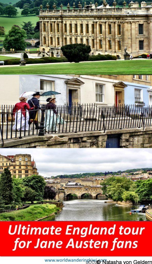 Ultimate England tour for Jane Austen fans