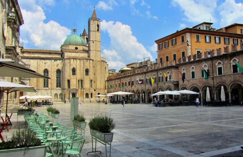 Ascoli Piceno Piazza del Poppolo Italy