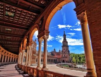 one day in Sevilla Plaza de Espana