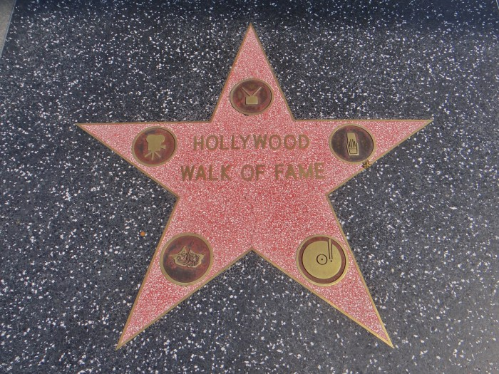 Walk of Fame Hollywood Los Angeles