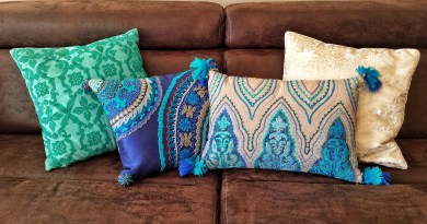 Bohemian interior embroidered cushions