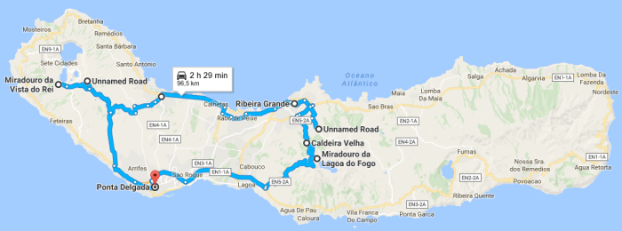 Azores road trip Sao Miguel itinerary 01