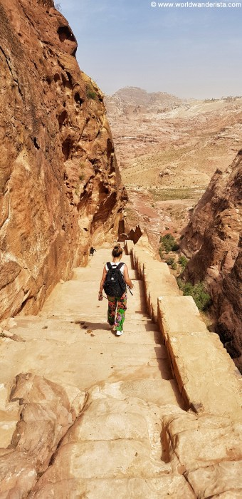 Two days in Petra steps