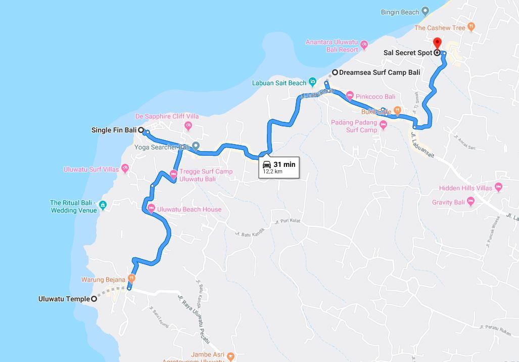 Bali-Road-Trip-Map-uluwatu - WORLD WANDERISTA