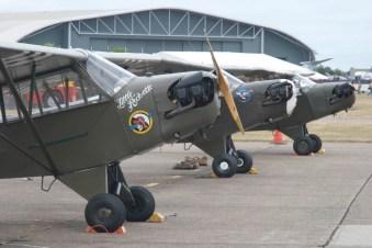 Piper L-4 Grasshopper x3 - 02 Flying Legends 2015