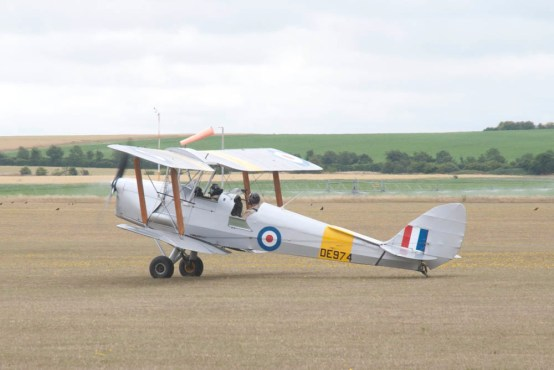 A de Havilland DH.82 Tiger Moth during the Flying Legends 2015 airshow.
