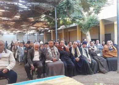 The settlement event of a Coptic and Muslim communities in Al-Koumair village. (World Watch Monitor)