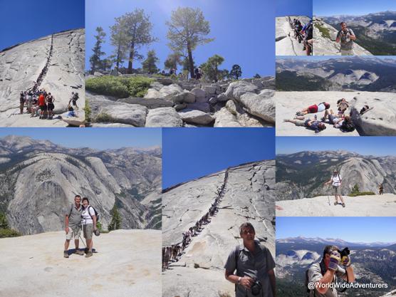 Hiking at Half Dome Yosemite National Park USA