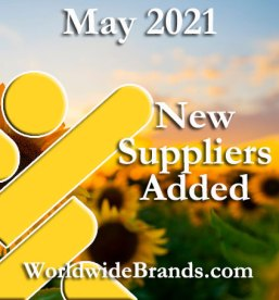 May 2021 Wholesalers and Dropshippers Added Worldwidebrands.com