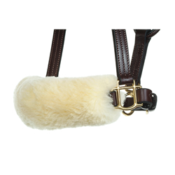 Sheepskin Noseband Cover