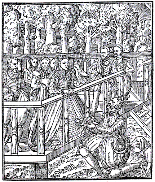 Fewmets being shown to Queen Elizabeth I