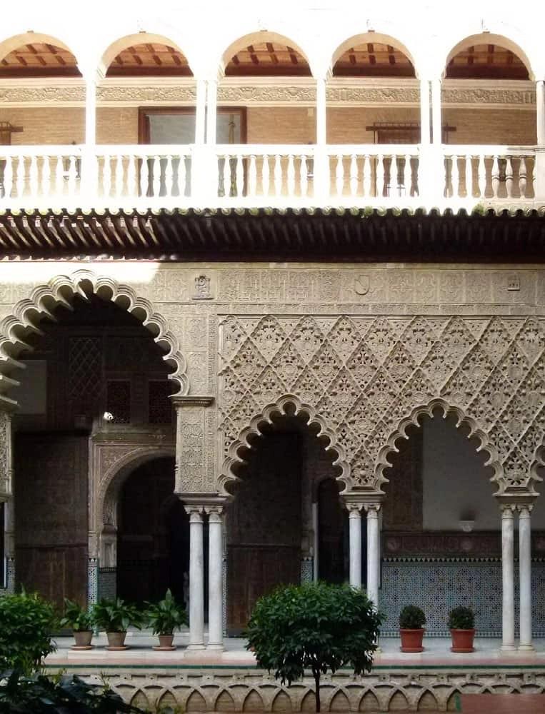Renaissance arches, Alcazar, Seville