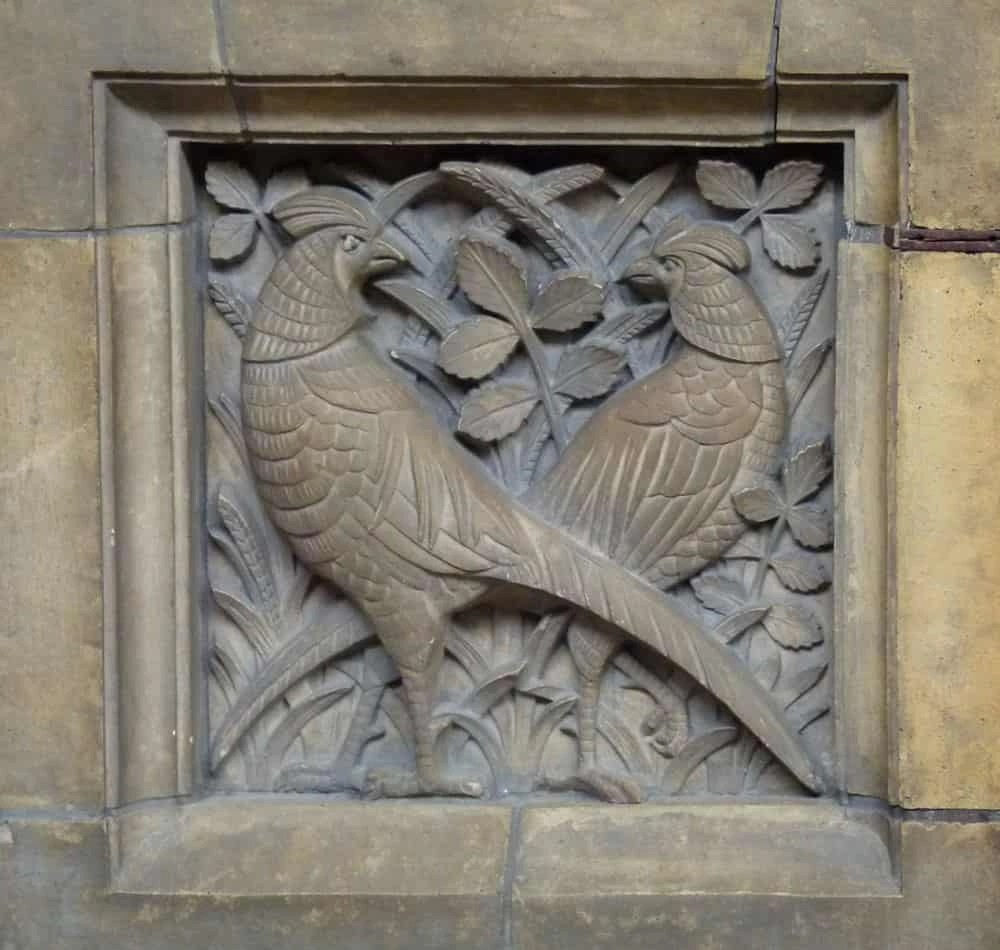 Carving of birds