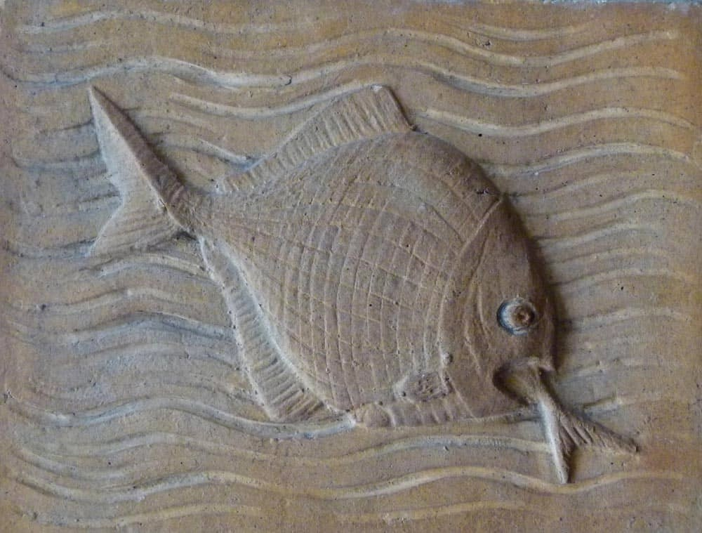 Carving of a fish, Minerals Gallery