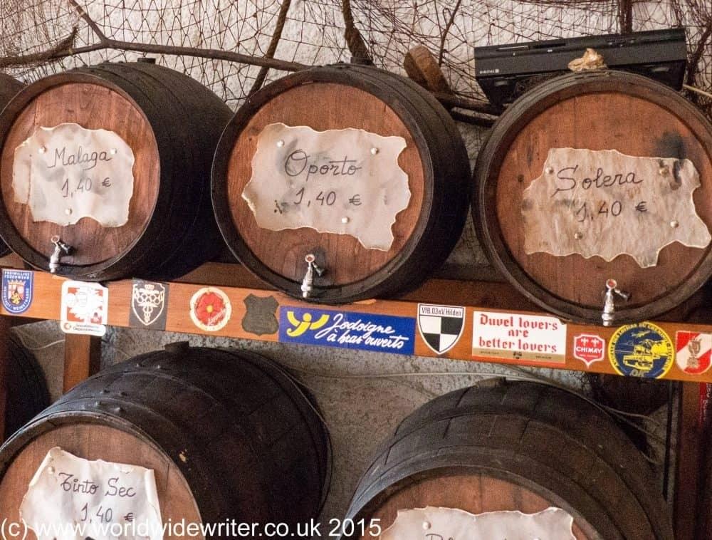 Barrels of wine, Lloret de Mar