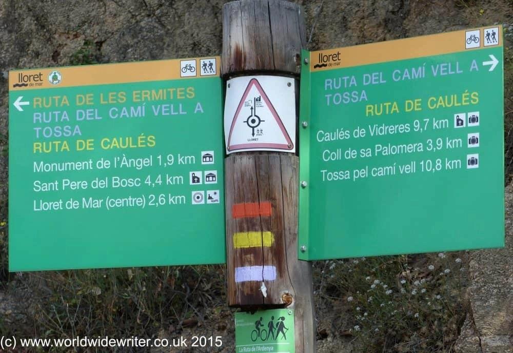 Sign post, Lloret de Mar
